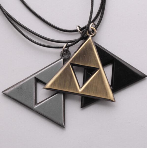 1 Collier Triforce The Legend Of Zelda (3 Couleurs Disponibles) - Livraison Gratuite !