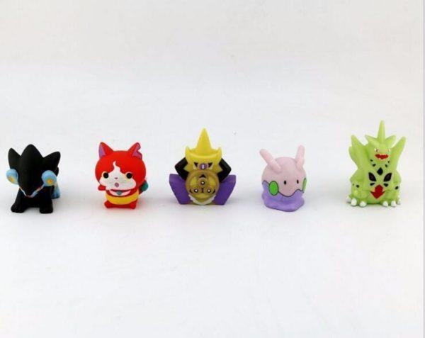 10 pcs lot Japonais Anime Yo Kai Montre Yokai Youkai 4 5 CM Action PVC Chiffres 1 Lot De 10 Figurines Yo-Kai Watch - Livraison Gratuite !