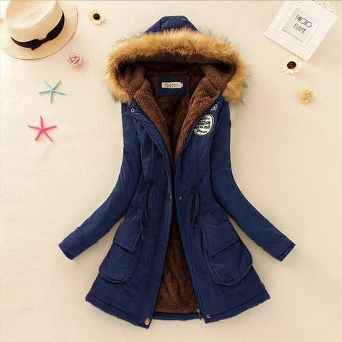 Superbe manteau pour femme 2019 Minute Mode Bleu marine L