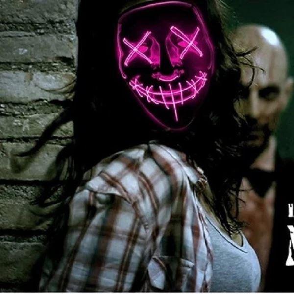 """10 5ca64350 b359 43c0 a01e f97bd46445c2 Masque Lumineux """"The Purge"""" Halloween"""