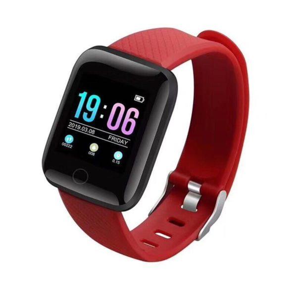 Montre Fitness Intelligente Flash Ventes Rouge