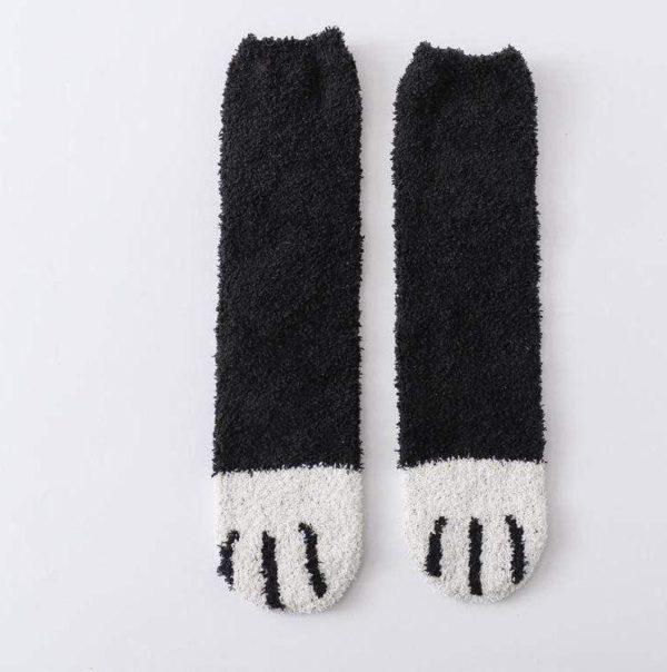 Chaussettes Pattes De Chat Minute Mode Noir