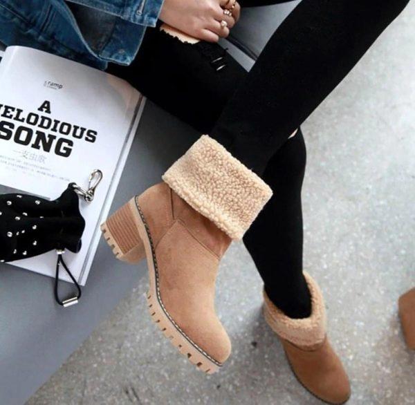 Bottines Chics à Fourrure Site Vêtements