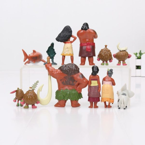12 pcs lot Moana Maui Chef Tui Sina PVC Figurines Gramma Tala Heihei Statue Anime Figurines 1 1 Lot De 12 Figurines Collections Moana - Livraison Gratuite !
