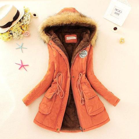 Superbe manteau pour femme 2019 Minute Mode Orange L