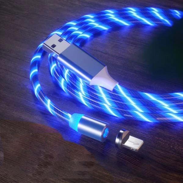Câble USB Magnétique Streamer Raton Malin Bleu Type C