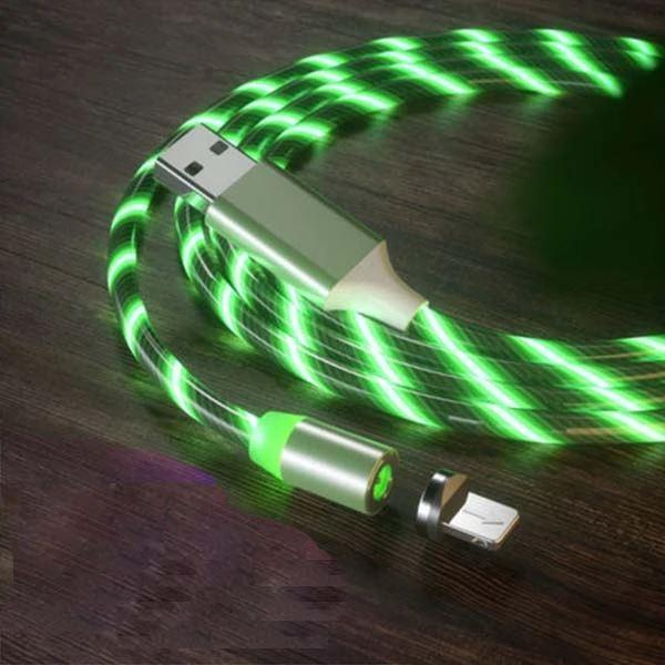 Câble USB Magnétique Streamer Raton Malin Vert Type C