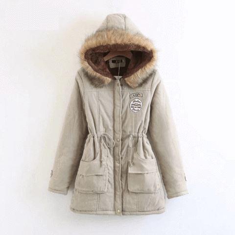 Superbe manteau pour femme 2019 Minute Mode Gris/beige L
