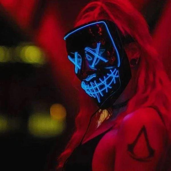 """14 8efdcd7b a826 4b10 a534 0ae89cf9ac6c Masque Lumineux """"The Purge"""" Halloween"""