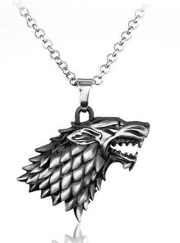 14 d8b6115b 076a 4436 afca bf12f5ffa632 Collier Pendentif Games Of Thrones - Maison Stark