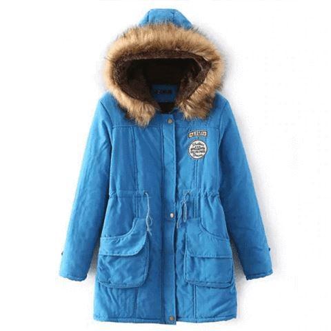 Superbe manteau pour femme 2019 Minute Mode Bleu lac L