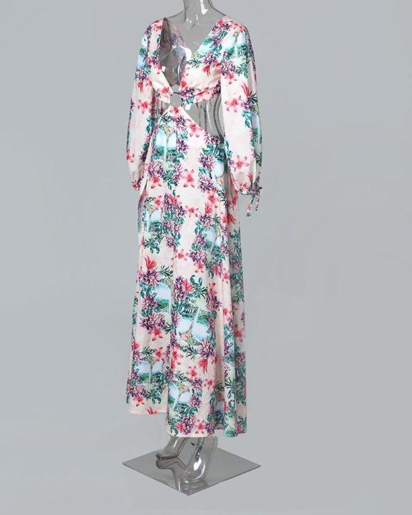 17 233e1443 f178 4779 9d02 e131e1e0996d Robe Longue Fendue Imprimé Floral