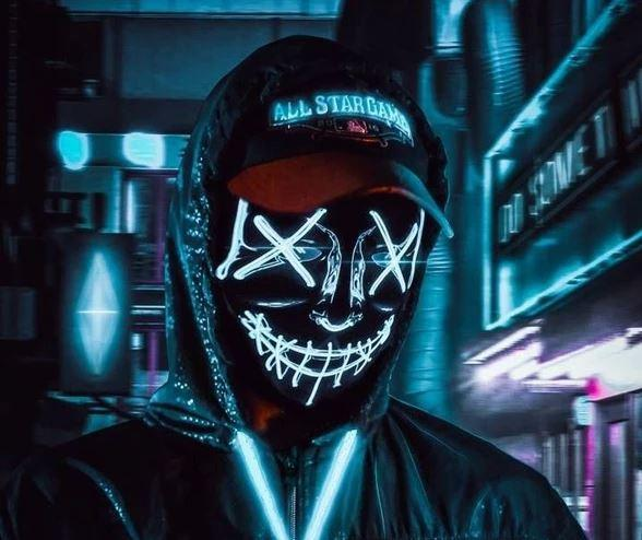 "1 2b477a34 f319 4e19 b5fc 612f5344b0e3 Masque Lumineux ""The Purge"" Halloween"
