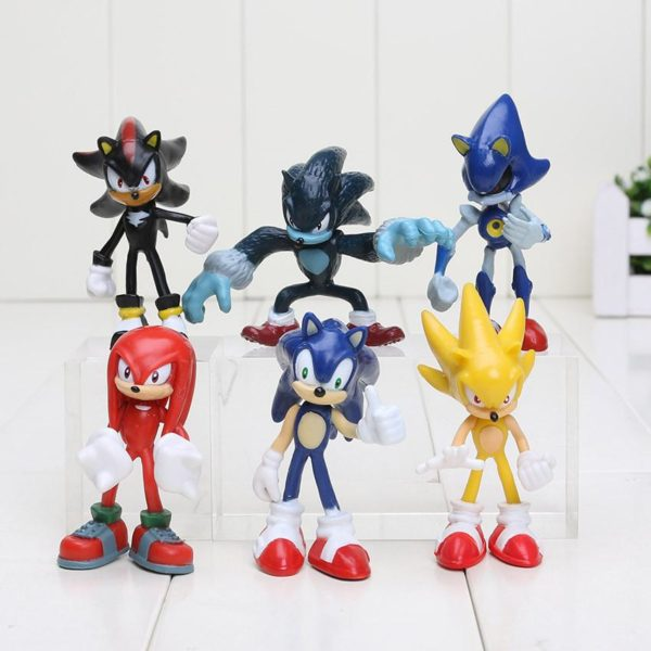 1 575c4f22 06b3 42e6 8fea a7159e69a10c 1 Lot De 6 Figurines (7 Cm) Sonic The Hedgehog 2 - Livraison Gratuite !