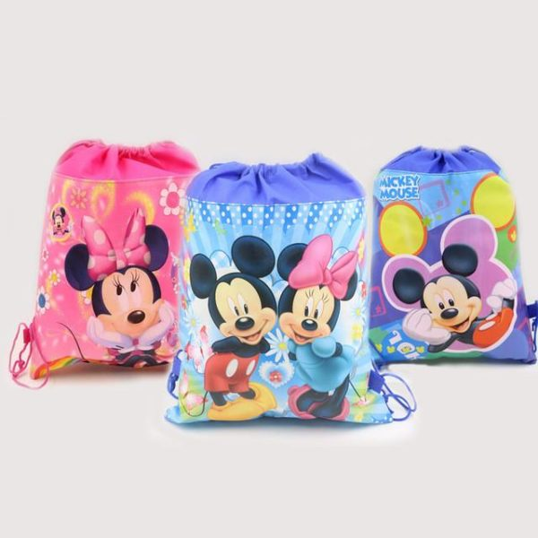 1pc lot Minnie Cadeau Sacs Mickey Enfants Favors Baby Shower Non Tisse Tissu Cordon Sac A.jpg 640x640 b1c9b2db b73a 4649 9003 9765e18c6292 Sac À Dos Mickey Mouse (6 Illustrations) - Livraison Gratuite !