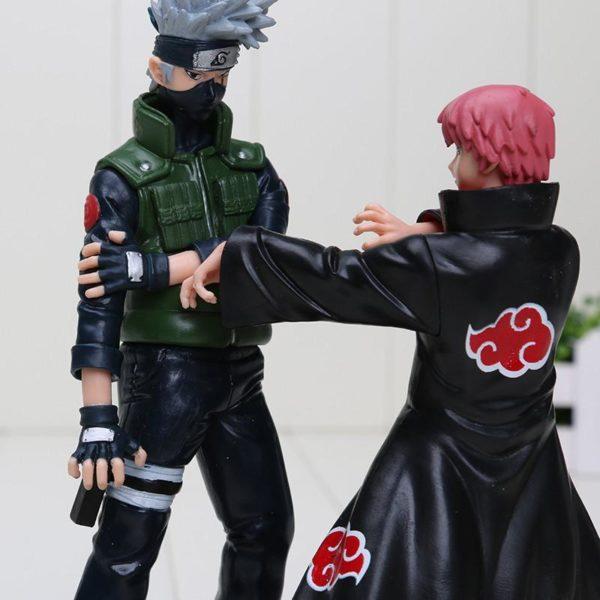 2 pcs set 16 18 cm Naruto Hatake Kakashi VS Sasori PVC Action Figures PVC mod egrave 2 1 Lot De 2 Figurines Kakashi Et Sasori - Livraison Gratuite !