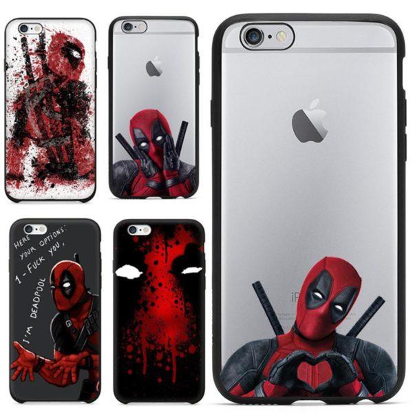 2016 Hot Selling 3D Super Cool Coque 3D Deadpool En Silicone Pour Iphone 5/5S, 6/6S Et 6 Plus - Livraison Gratuite !