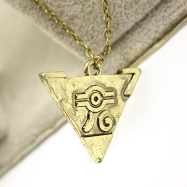 2016 Hot jeu The Legend Of Zelda Antique or Triforce Triangle pendentif collier 1 Collier Yu-Gi-Oh! Puzzle Du Millénium - Livraison Gratuite !