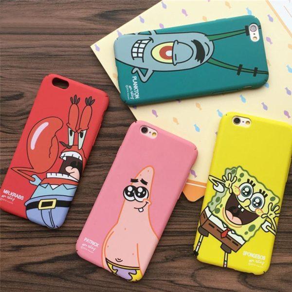 2016New arrivent Meilleur Ami SpongeBob Patrick De Protection Phone Case Cover fundas capa coque Pour Apple Coque Bob L'éponge Pour Iphone (4 Couleurs) - Livraison Gratuite !