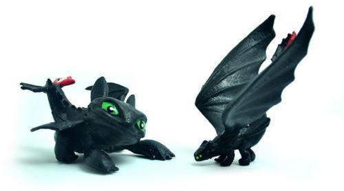 2017 7 Pcs Comment Dresser Votre Dragon Mini Figure Nuit Fury Eacute 1 Lot De 7 Mini Figurines Comment Dresser Votre Dragon - Livraison Gratuite !
