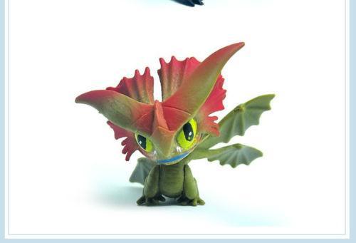 2017 7 Pcs Comment Dresser Votre Dragon Mini Figure Nuit Fury Eacute 2 1 Lot De 7 Mini Figurines Comment Dresser Votre Dragon - Livraison Gratuite !