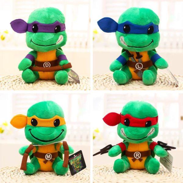 20cm New Large Eye Tortoise Anime Plush Toy Sea Turtle Stuffed Toys Doll Brinquedos Kids Toys Peluche Tortues Ninja 20Cm (4 Modèles)- Livraison Gratuite !