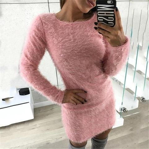 Robe-Pull Douce et Confortable Minute Mode Rose XXXL