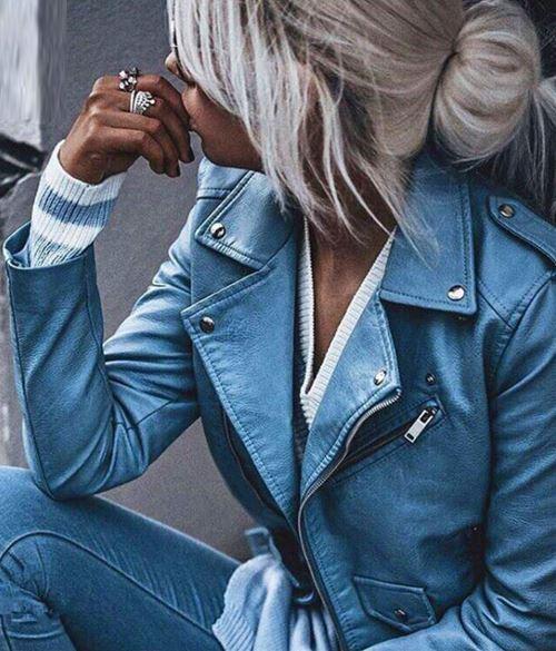 Veste Courte Féminine Minute Mode Bleu S