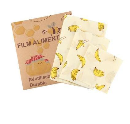 24 4f9433bb baf4 4981 b8c5 7487e7403285 Film Alimentaire Réutilisable En Cire D'abeille