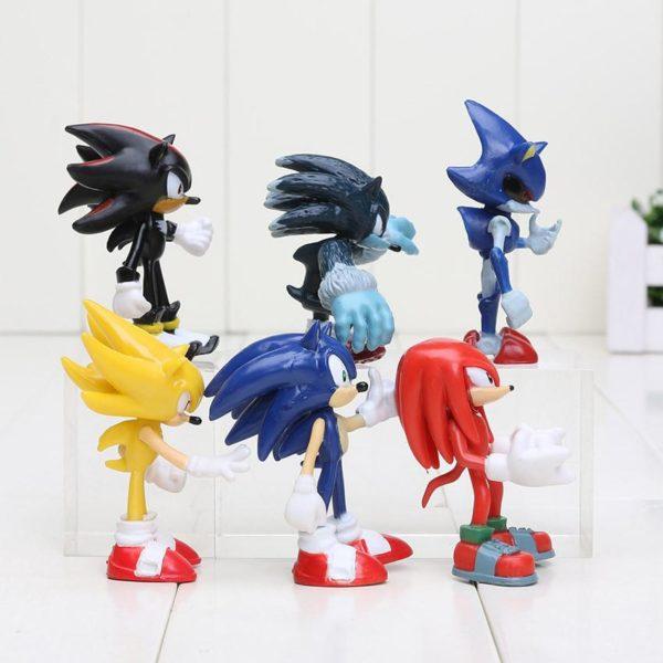 2 2f2b38d7 4bf8 497b 83e7 ca286630501f 1 Lot De 6 Figurines (7 Cm) Sonic The Hedgehog 2 - Livraison Gratuite !