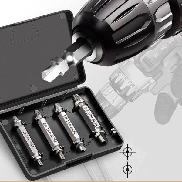 Extracteur de Vis (4 Pcs/5pcs/6pcs) Flash Ventes Argenté ( 4pcs )