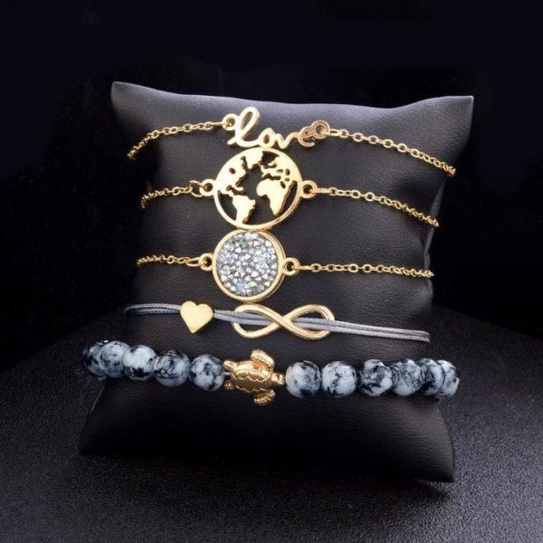 2 6a184145 a17d 4251 9b81 64d4f518ad31 Lot De 5 Bracelets Tendances
