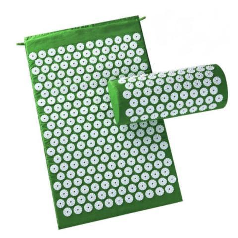 Tapis d'acupression raton-malin Vert + Coussin offert