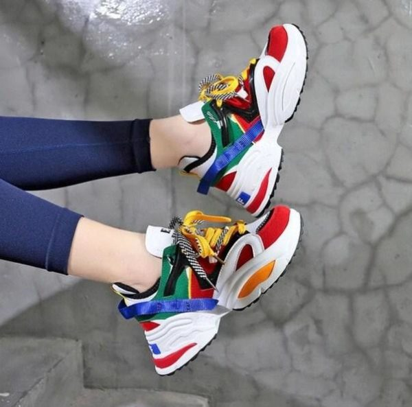 Baskets Respirantes CHUNKY Minute Mode Rouge 35