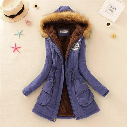 Superbe manteau pour femme 2019 Minute Mode Bleu royal L