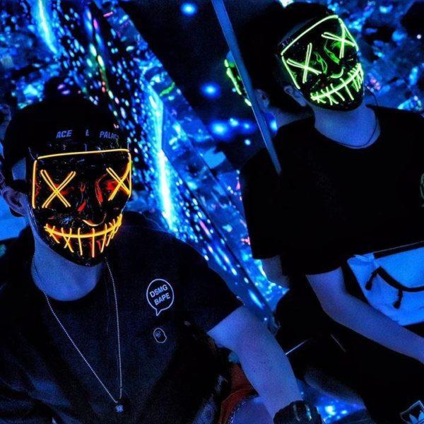 "2 fc53c0ff 8756 4a94 841c 3a48c923c48b Masque Lumineux ""The Purge"" Halloween"