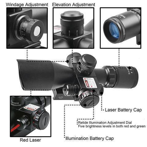 2 large f451e559 bc49 4ab2 b288 b3b2bd362a36 B-Tac 2.5-10X40 Predator - Optique À Laser Avec Support