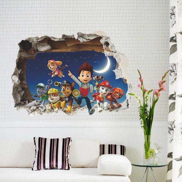 3D bande dessinee chiens patrouilles de sticker mural pour enfants chambre salon chambre vinyle pvc bricolage.jpg 640x640 b8ade8e5 f094 402e ad2c 85aa1554a5c2 Stickers Muraux Pat'patrouille 3D 50 X 70 Cm - Livraison Gratuite !