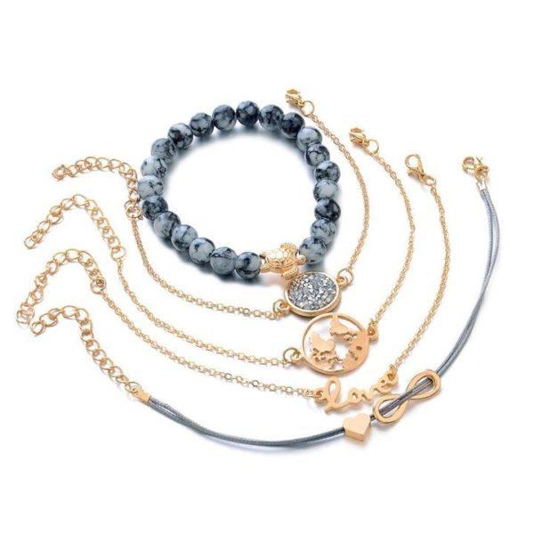 3 ecef2d0e 4355 42fc a2e1 6819541c0385 Lot De 5 Bracelets Tendances