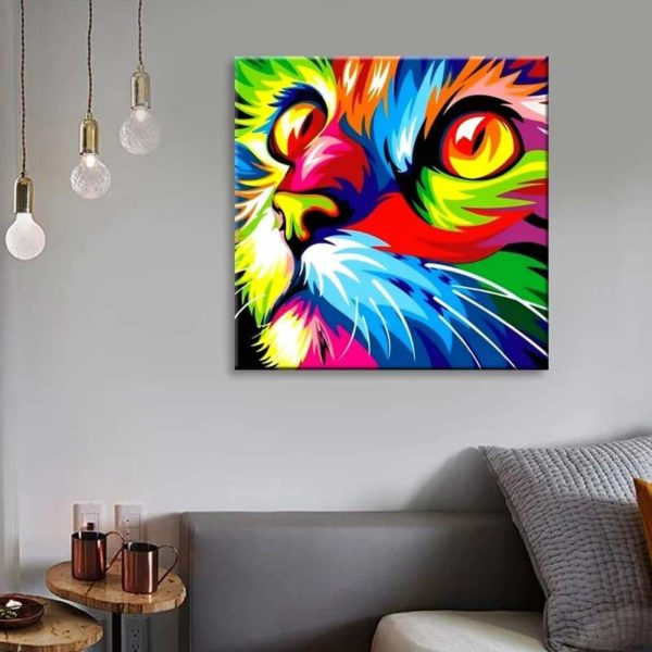 56622484 283435775905174 5799139777353613312 n Peinture Chat Multicolore