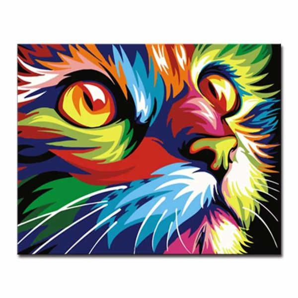 56935266 385291828731478 4397854672094756864 n Peinture Chat Multicolore