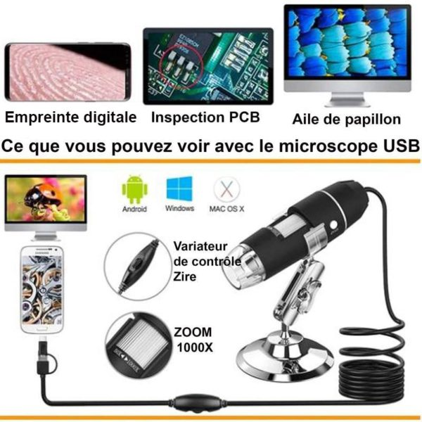 5 6c6f4dae 22db 4900 bc3b aac1eb30fe90 Microscope Numérique Portable 1080P