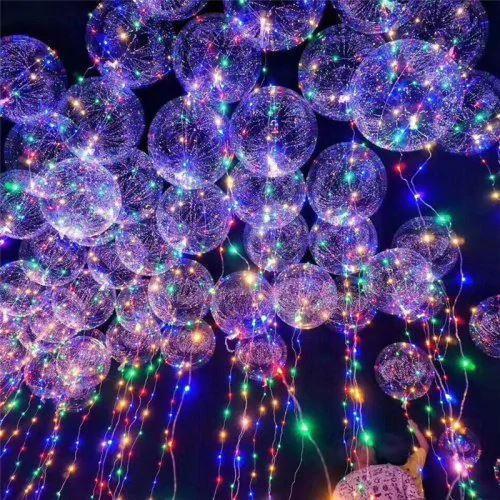 Ballons à LED Flash Ventes 24 pouces Rouge