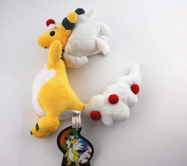 5pcs set Pokemon Center Mega Ampharos Stuffed Plush Toy 1 Peluche Ampharos (28 Cm) Pokemon - Livraison Gratuite !