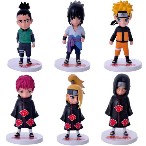 6 pcs ensemble Anime Naruto Sasuke Shikamaru Sasori Deidara Itachi Uzumaki Naruto PVC Figure Figurines Jouets 8c4d919d 631e 4c30 b157 de618327c087 1 Lot De 6 Figurines Sasuke Shikamaru Sasori Deidara Itachi Uzumaki Naruto - Livraison Gratuite !