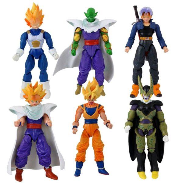 61092rzt0dL. SL1001 1 Lot De 6 Figurines (13-15Cm) Avec Visages Changeables Dragon Ball Z - Livraison Gratuite !