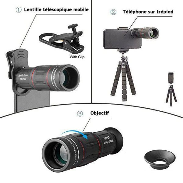 619OFpQg1FL. SX679 Objectif Pour Smartphone - Zoom X18