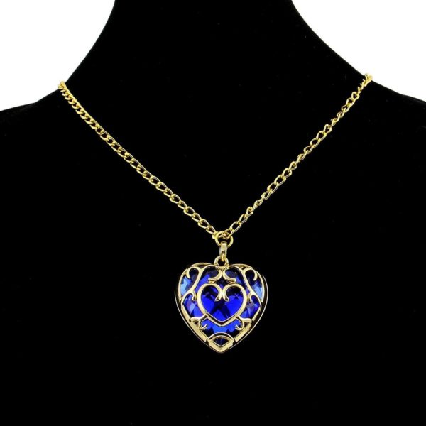 61PLtoWhf L. SL1500 Collier Coeur Bleu Et Rouge The Legend Of Zelda - Livraison Gratuite !