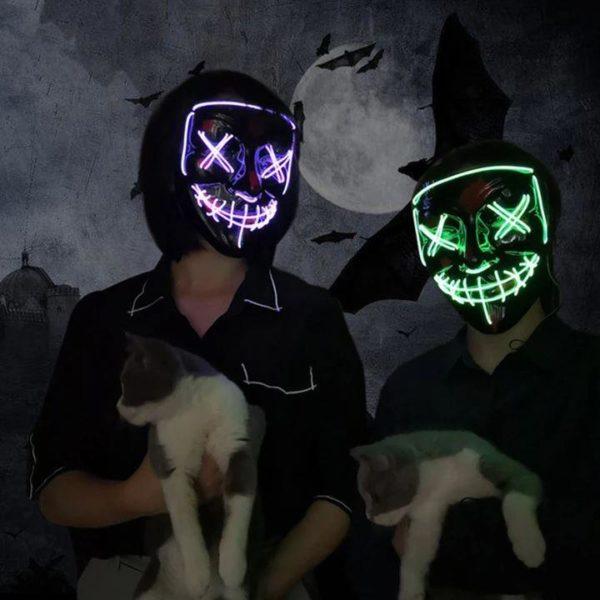 """6 561fdd83 c7d9 414b 8d09 733eb66aec90 Masque Lumineux """"The Purge"""" Halloween"""