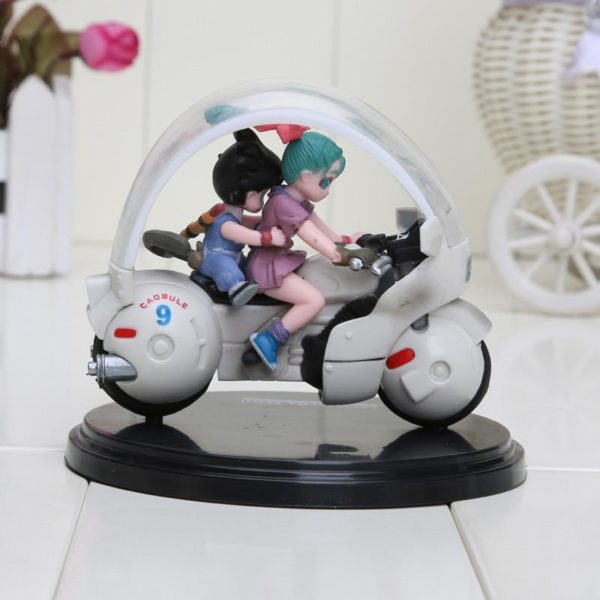 8 cm Dragon Ball Z Son Goku Bulma moto PVC Action Figure collection mod egrave Figurine San Goku Et Bulma En Moto (8 Cm) Dragon Ball Z - Livraison Gratuite !